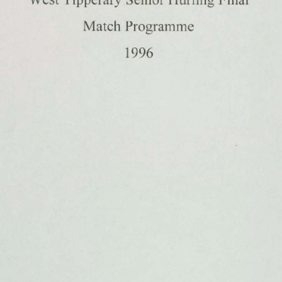 1996 West Tipperary Senior Hurling Final.pdf