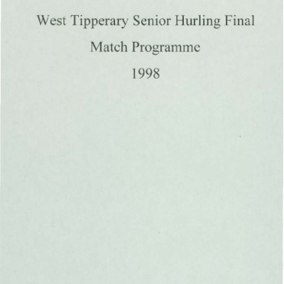 1998 West Tipperary Senior Hurling Final.pdf