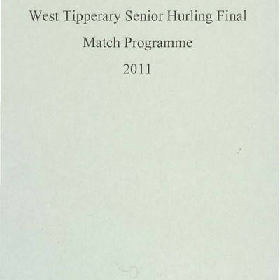 2011 West Tipperary Senior Hurling Final.pdf