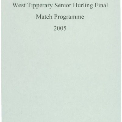 2005 West Tipperary Senior Hurling Final.pdf