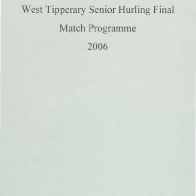 2006 West Tipperary Senior Hurling Final.pdf