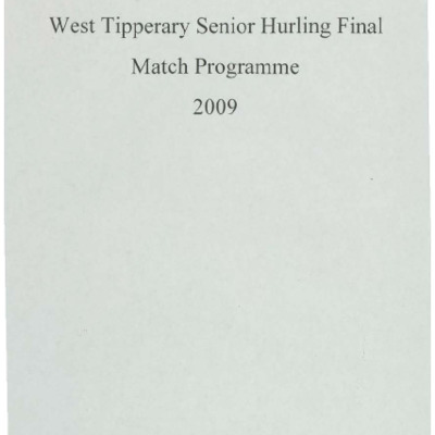 2009 West Tipperary Senior Hurling Final.pdf
