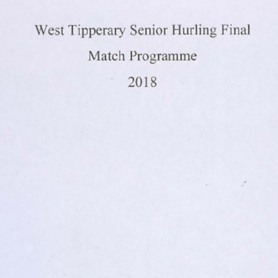2018 West Tipperary Senior Hurling Final..pdf