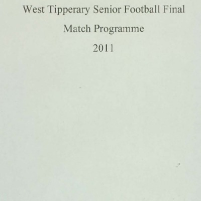 2011 West Tipperary Senior Football Final..pdf