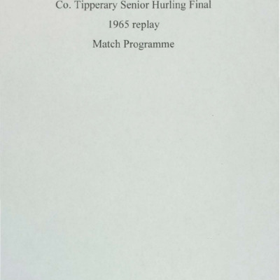 1965 Co. Tipperary Senior Hurling Final replay..pdf