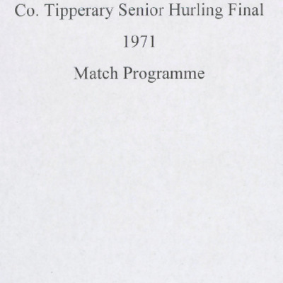 1971 Co. Tipperary Senior Hurling Final..pdf