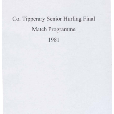 1981 Co. Tipperary Senior Hurling Final..pdf