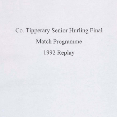 1992 Co. Tipperary Senior Hurling Final replay..pdf