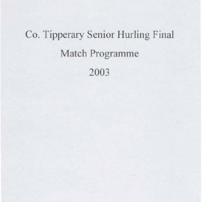 2003 Co. Tipperary Senior Hurling Final..pdf