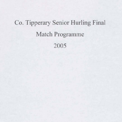 2005 Co. Tipperary Senior Hurling Final..pdf