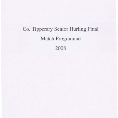 2008 Co. Tipperary Senior Hurling Final..pdf