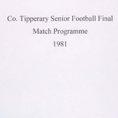 1981 Co. Tipperary Senior Football Final..pdf