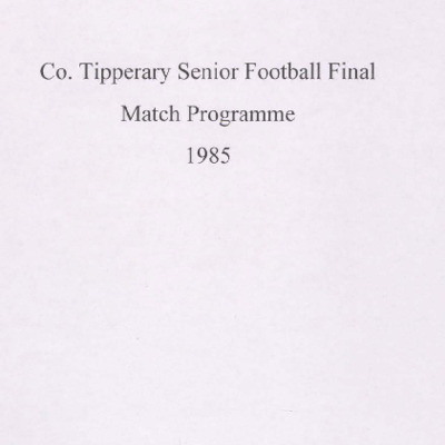 1985 Co. Tipperary Senior Football Final..pdf