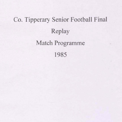 1985 Co. Tipperary Senior Football Final replay..pdf