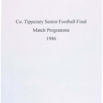 1986 Co. Tipperary Senior Football Final..pdf