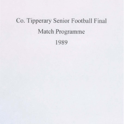 1989 Co. Tipperary Senior Football Final..pdf
