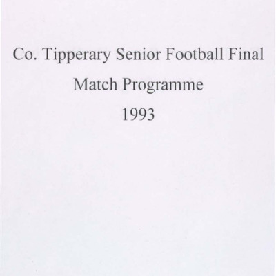 1993 Co. Tipperary Senior Football Final..pdf
