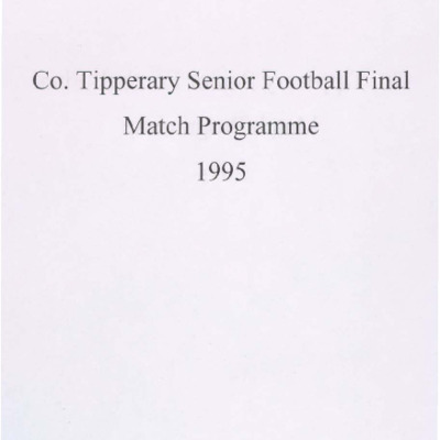 1995 Co. Tipperary Senior Football Final..pdf