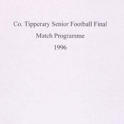 1996 Co. Tipperary Senior Football Final..pdf