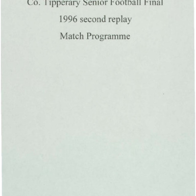 1996 Co. Tipperary Senior Football Final 2nd replay..pdf