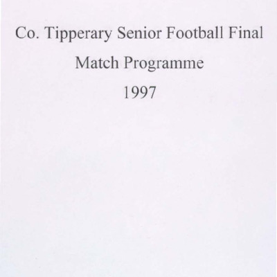 1997 Co. Tipperary Senior Football Final..pdf