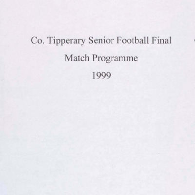 1999 Co. Tipperary Senior Football Final..pdf