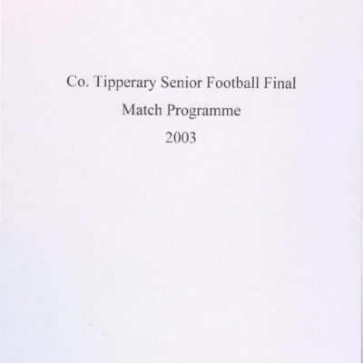 2003 Co. Tipperary Senior Football Final..pdf