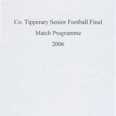 2006 Co. Tipperary Senior Football Final..pdf