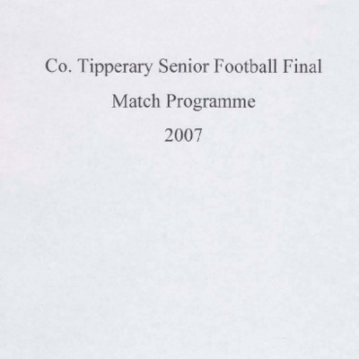 2007 Co. Tipperary Senior Football Final..pdf