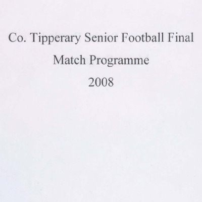 2008 Co. Tipperary Senior Football Final..pdf