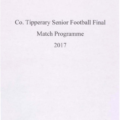 2017 Co. Tipperary Senior Football Final..pdf