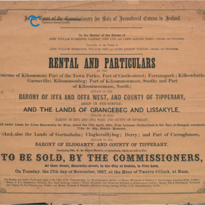 Kilcommon, Cahir. Incumbered Estate Rental 1857.pdf