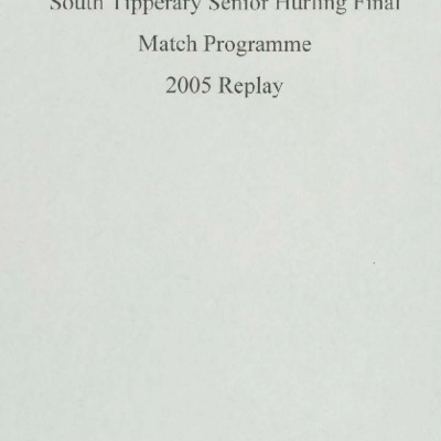2005 South Tipperary Senior Hurling Final replay.pdf