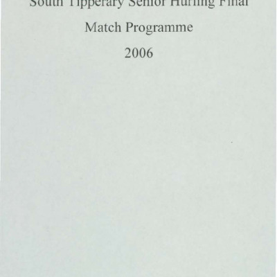 2006 South Tipperary Senior Hurling Final.pdf
