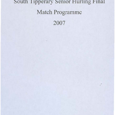 2007 South Tipperary Senior Hurling Final.pdf