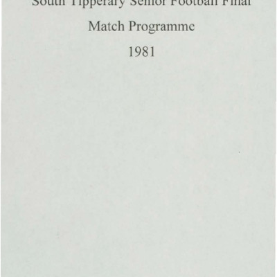 1981 South Tipperary Senior Football Final..pdf