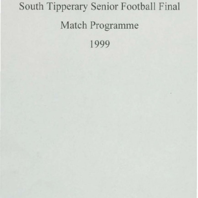 1999 South Tipperary Senior Football Final..pdf