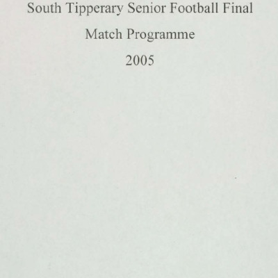 2005 South Tipperary Senior Football Final..pdf