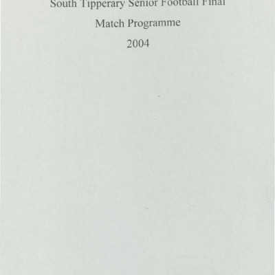 2004 South Tipperary Senior Football Final..pdf